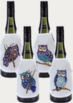 783824 Permin Owls  Wine Aprons