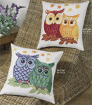 833349 Permin Red and Yellow Owl Pillow (top)