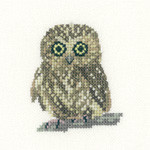 HCK1142 Heritage Crafts Kit Owl  Little Friends Collection by Valerie Pfeiffer and Susan Ryder