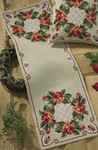 751906 Permin Red Roses Table runner
