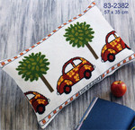 832382 Permin Red VW Bug Pillows