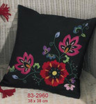 832960 Permin Red Floral Square Pillow