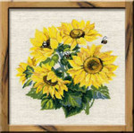 RL776 Riolis Cross Stitch Kit Sunflowers