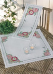 633871 Permin Hollyhock Table Runner  (top)