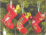 014214 Permin Three Christmas Stockings