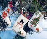 013250 Permin Three Christmas Stockings