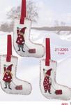 212265 Permin Three Christmas Stockings (3pcs)