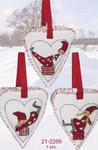 212266 Permin Three Christmas Hearts (3pcs)