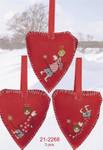 212268 Permin Three Christmas Hearts (3pcs)