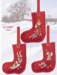 212267 Permin Three Christmas Stockings (3pcs)