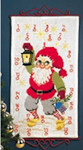 344215 Permin Advent Calendar - Santa With Lantern