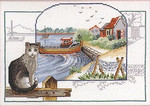 122306 Permin Kit Seashore With Cat