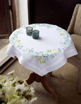 PNV148473 Vervaco Green Butterflies  Table Cloth