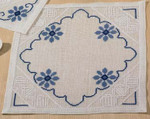 100649 Permin Blue Flowers Table Mat