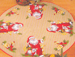 453255 Permin Santa With Animals Tree Skirt