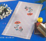 635708R Permin Floral Table Runner