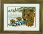 700174 Permin Brown Bear w/cub