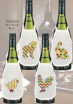 784866 Permin Kit Colored Animals Bottle Aprons  Set of 4