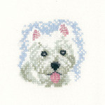 HCK1031 Heritage Crafts Westie Puppy by Valerie Pfeiffer