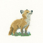 HCK1061 Heritage Crafts Fox Cub - Little Friends by Valerie Pfeiffer