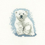 HCK1062 Heritage Crafts Polar Bear Cub - Little Friends by Valerie Pfeiffer