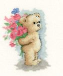 HCK1122A Heritage Crafts Toffee with Flowers  Toffee Bear by Sue Hill