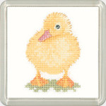 HCK1218 Heritage Crafts Duckling Little Friends by Valerie Pfeiffer and Susan Ryder  coaster kit