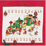 348225 Permin Kit Advent Calendar - Santa's Train