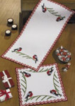 632627 Permin Bullfinch Table Runner (top)
