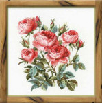 RL1046 Riolis Cross Stitch Kit Garden Roses