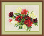 RL1065 Riolis Cross Stitch Kit Tulips