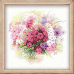 RL1069 Riolis Cross Stitch Kit Watercolour Phlox