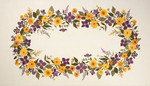 77124579 Eva Rosenstand Clematis & Dahlia tablecloth