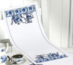 634834 Permin Kit Blue Kitchen - Table Runner