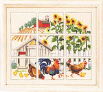 703331 Permin Kit Chickens & Sunflowers