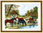 7714200 Eva Rosenstand Cross Stitch Kit Horses by Feedhouse