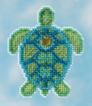 MH181611 Mill Hill Kit Sea Turtle (2016)Seasonal Ornament Kit