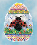 MH181615 Mill Hill Kit Ladybug Egg (2016) Seasonal Ornament Kit