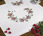 271674 Permin Kit Wreath of Flowers Tablecloth