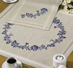 271680 Permin Kit Blue flowers table cloth