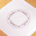 271683R Permin Kit Floral Ring Table Cloth