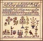 391314 Permin Kit Sampler 1874 Elise Reese