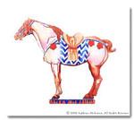 M-031 Tang Horse 14 x 16 18  Mesh  Shorebird Studio