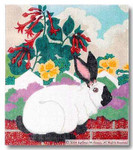 M-104 Rabbit Pillow 4 13 x 15 13 Mesh  Shorebird Studio