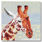 M-264 Giraffe Pillow 14 x 14 13 Mesh Shorebird Studio