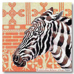 M-263 Zebra Pillow 14 x 14 13 Mesh Shorebird Studio