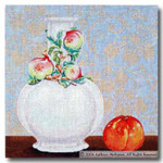 M-202 Still Life with Nectarine 14 x 14 13 Mesh Shorebird Studio