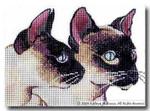 M-272 Siamese Cats 7 x 5 18 Mesh Shorebird Studio