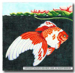 M-416 Squares: Gold Fish 9 x 9 14 Mesh Shorebird Studio