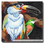 M-414 Squares: Toucan & Hummingbird 9 x 9 14 Mesh Shorebird Studio